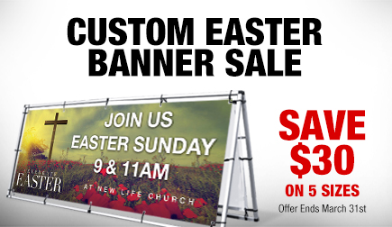 Save $30 on all Outdoor banners until March 31, 2015!