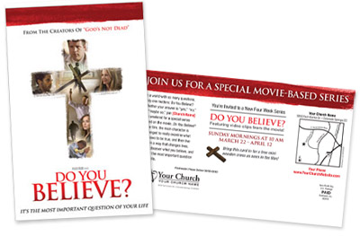 """Do You Believe?"" Custom Postcards"