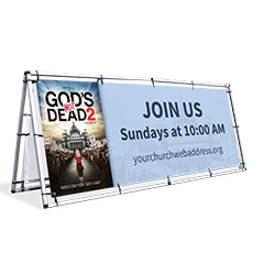 """God's Not Dead 2"" Outdoor Banners"