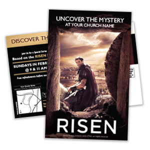 """Risen"" Postcards"