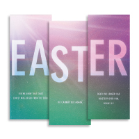 """Easter Color"" Banner Triptych"
