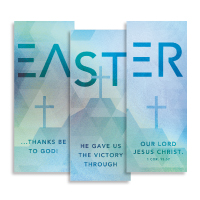 """Easter Geometric"" Banner Triptych"