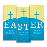 """Easter Hill"" Banner Triptych"