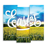 """Easter Field"" Banner Triptych"