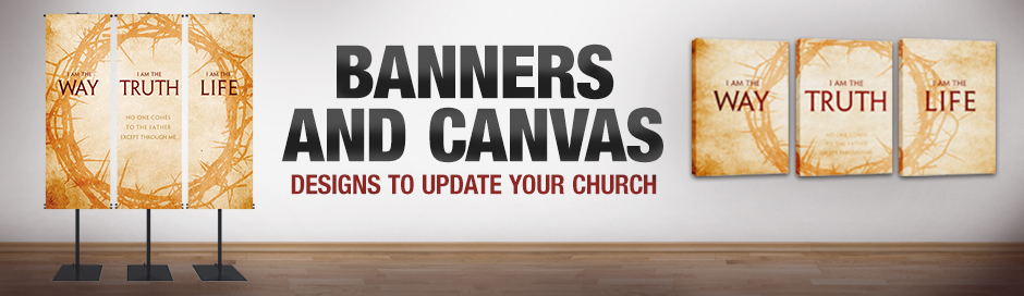 Banners and Canvas Triptychs to Update Your Church