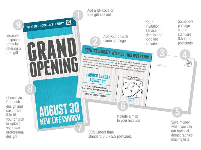 XLarge Custom Postcards to Reach Your Neighbors: Outreach, Inc.