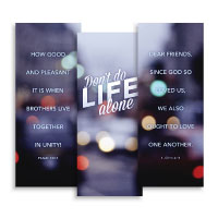 """Life Alone"" Banner Triptych"