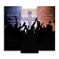 """Worship Loud"" Banner Triptych"