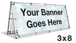 A-Frame Banner Stand 3'x8'
