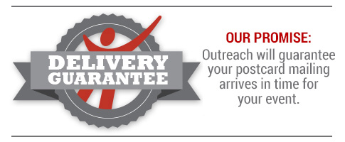 Outreach Direct Mail Delivery Guarantee