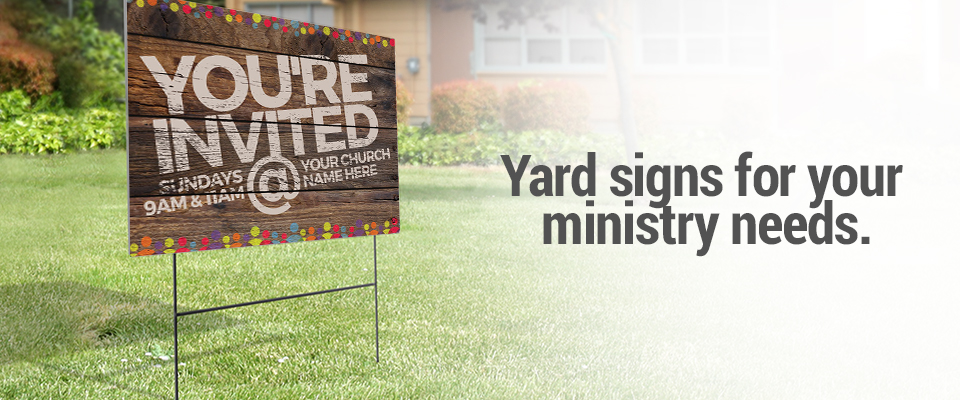 Church yard signs outreach church communication and marketing tools yard signs solutioingenieria Choice Image