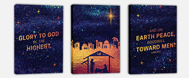 Canvas wall art for churches