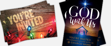 Church postcards for Christmas