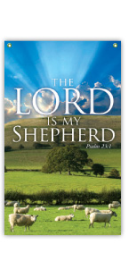 Lord Is My Shepherd Vertical Banner