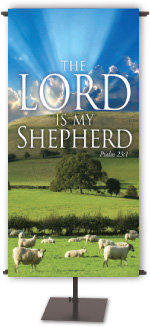 Lord My Shepherd 3X5 Banner