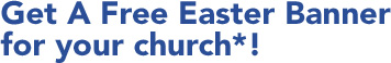 Get a free Easter banner for your church