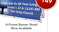 A-Frame Banner Stand Now Available