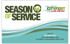 Season of Service Horizontal Customized Postcard
