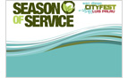 Season of Service Horizontal Jumbo Postcard