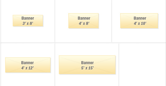 Horizontal Banner Sizes