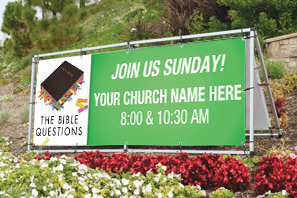 The Bible Questions Outdoor Banner