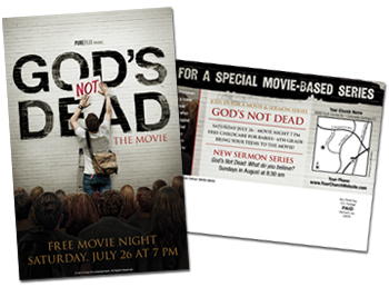 God's not Dead Postcard