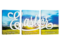 """Easter Field"" Canvas Triptych"