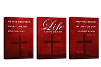 """Life Over Death"" Canvas Triptych"