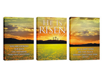 """He is Risen Suite"" Canvas Triptych"