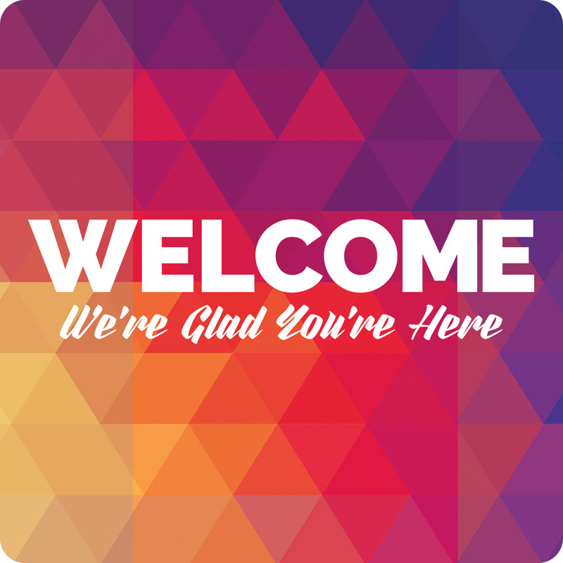 'Geobold Welcome' Hand Held Sign