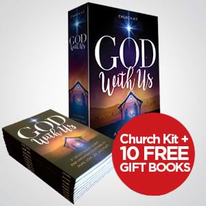 Get 10 Free Advent Gift Books when you purchase the God With Us Advent Sermon Series Church Kit