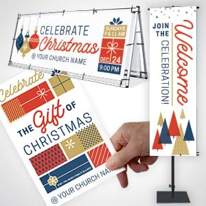 Christmas suites to provide your church with festive tools to attract visitors and welcome and inspire everyone who enters!