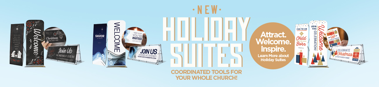 New Christmas suites: Coordinated banners, invitations, bulletins and more for your whole church!