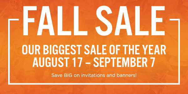 Fall Sale: Our Biggest Sale of the year!