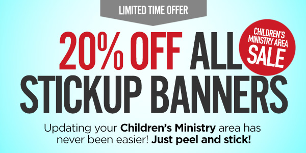Banners, stickers and more to transform your children's ministry areas