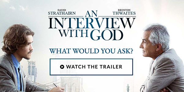 A journalist struggling in his return home from a war zone dives deeply into the story of a lifetime—an interview with a mysterious man claiming to be God.