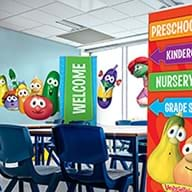 Wall stickers and banners for children's ministry spaces