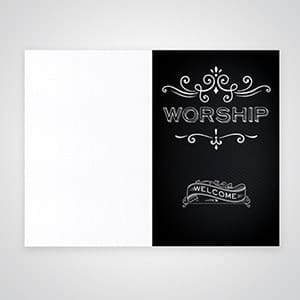 Church Bulletins:A wide range of church bulletin designs for your worship services and events