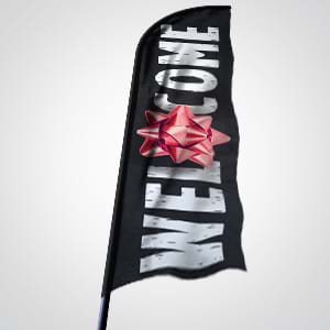 Church Banners and Signs: Flag banners grab the attention of people driving by your church