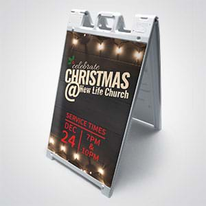 Other Popular Products For Churches: Sandwich board style signs are great for churches meeting in schools or theaters