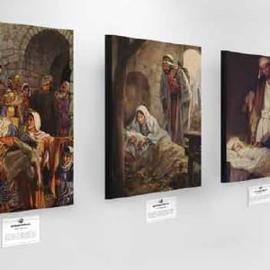 Tell the story of Christmas through canvas art prints. Invite your community.