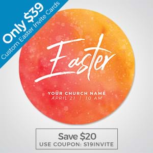 Use custom invite cards to invite new guests to your Easter service!