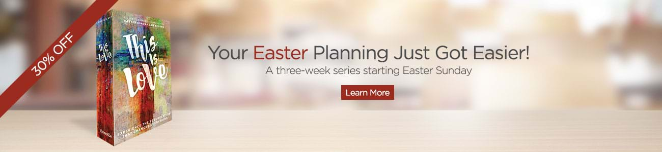 A 3-week sermon series starting Easter sunday: Invite your community to Easter and encourage visitors to come back the following two weeks