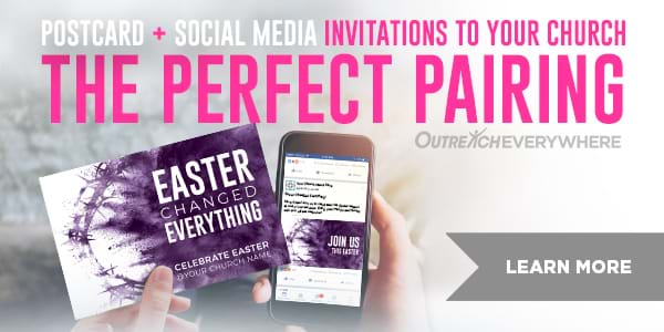 Outreach Everywhere: a combination of direct mail invitations with Facebook and Instagram ads - doubling your Easter outreach impact