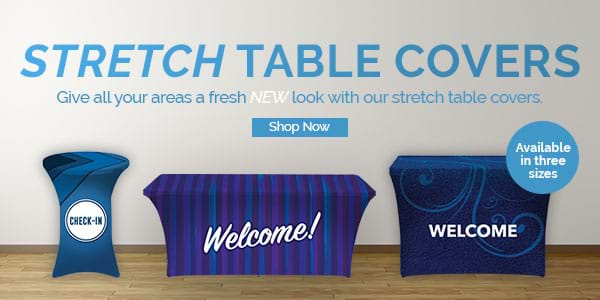 New stretch table covers in three sizes