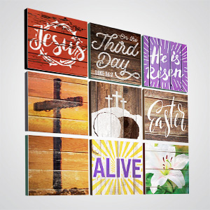 Church Wall Art and Décor: Mix and match canvas designs and patterns to fit any space.
