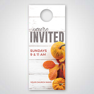 Church Invitation Tools: Door hangers are a great way to invite neighbors to your church