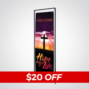 Church Banners: Create your own banner design or let us create a custom banner design
