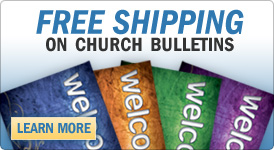 Free Shipping On Church Bulletins
