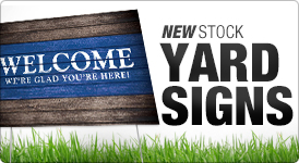 New Stock Yard Signs